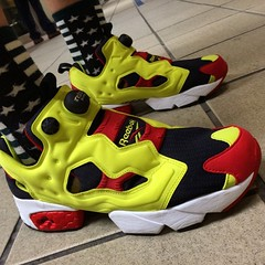 Go go pump og !! #pump... (superke) Tags: red yellow fresh sneakers pump sneaker kicks reebok colorway sneakerhead wdywt kickstagram uploaded:by=flickstagram solecolletor superkekkkk instagram:photo=761262892919392909199912401