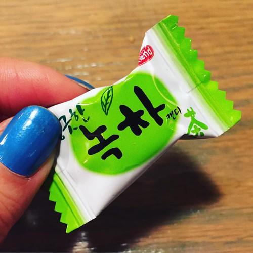 #greentea candy. :) #ajoomahsapron