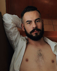 Christian R. (Ivan Contreras C.) Tags: white man men guy shirt model nipples skin interior handsome class modelo sensual blanca chico guapo clase hombre camisa pezones piel