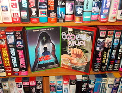 "Seoul Korea rare vintage VHS video store - crazy scarce Korean films ""Haunted Wedding Dress"" and ""6 Million Dollar Man"" ripoff - ""80s cheeze"" (moreska) Tags: vintage austin store video asia steve korea drivein domestic oasis korean 80s seoul gore horror 70s ghosts unusual analogue fx eighties rare rok vhs ripoffs flicks t120 6milliondollarman homeentertainment videocassette cinephile bfilms vestron oldlabels rentalera"