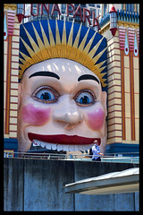 Luna Park Entrance. (TOXTETH L8) Tags: carnival moon coneyisland entrance fair northshore lunapark ages sydneyharbour youngsters sydneysiders