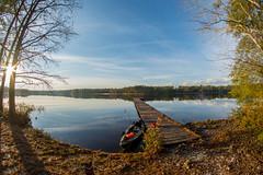 Breaktime on Lake Juniper (treydavisonline) Tags: park sky lake clouds fishing nikon kayak angle state south wide fisheye kayaking boating carolina 8mm juniper cheraw rokinon d7100