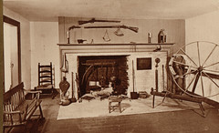 Indian Agency House Fireplace & Spinning Wheel