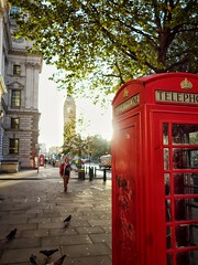 London (gilnemoy) Tags: london bigben westminster red phone booth street city urban clock watch