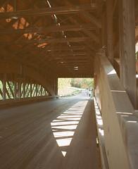 Netcher Road Bridge Interior (Sassenach5) Tags: ashtabulacounty coveredbridge bridge pentax 6x7 67 mediumformat 120film 120 idealformat supertakumar 55mm f35 analog agfa agfacolorxps160 expired