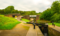 Middle Lock to Top Lock (williamrandle) Tags: dudleyno2canal canal parkheadviaduct parkheadlocks netherton dudley westmidlands uk england 2016 theblackcountry locks bridges water waterways towpath outdoor landscape history structure stone brick trees green arch architecture nikon d7100 tamron2470f28vc