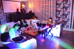 DSC_3811  Sign of the times: Five people all texting at a live social event and NO one speaking to each other (photographer695) Tags: msindos from south africa birthday party october 2 2016 walays club stratford london sign times five people all texting live social event no one speaking each other