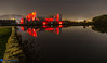 Caerphilly Castle Poppy (Threewaters Photography) Tags: caerphilly caerphillycastle caerfilli moat drawbridge castle southwales red reflection night poppies remembrance sunday