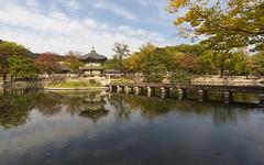 Hyangwonjeong Pavillon (Patrick Vierthaler) Tags: hyangwonjeong pavillon gyeongbokgung palace seoul south korea sdkorea autumn fall herbst reflections reflektionen water wasser 2016