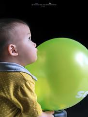 My Future (Ah Wei (Lung Wei)) Tags: balloon portrait baby light family son boy ahweilungwei nikon nikond750 nikon50mmf18g blackbackground