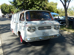 show is over headed out (bballchico) Tags: billetproofantioch carshow 2016 chevrolet panelvan corvair