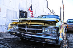 Old American Steel (ponz) Tags: california chrysler orangecounty scottkelbyworldwidephotowalk scottkelbyworldwidephotowalk2016 carshop cars classiccars downtown garage oldtimeauto oldtown oldtownorange orange photowalking wwpw wwpw2016 lrexportviajf