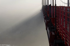 Mood of the day (DOT finger) Tags: autumn pont bordeaux pontdaquitaine bridge brouillard garonne fleuve sunrise architecture fog automne rouge river red