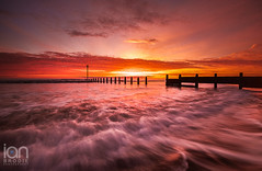 End of Summer Sunrise (ianbrodie1) Tags: sunrise blyth cloudsstormssunsetssunrises clouds groyne colour colourful water sea coast seascape coastline nikon d750 outdoors