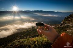 Cafe sous la Dent - Chartreuse - Copyright Bruno Lavit (kazimodo38) Tags: chamois chartreuse leverdesoleil montagne paravalenche sainthilaire sunrise