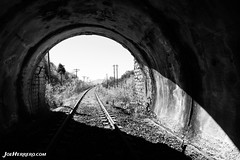 The Light After The Tunnel (Joe Herrero) Tags: madrid abandono abandoned robregordo apeadero joe herrero wwwjoeherrerocom tunel yunnel railroad rail via tren train