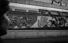 Eindhoven (peterisberzins) Tags: street women graffity eindhoven bw outdords