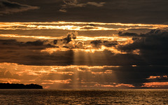 'Sailor's Delight' (Canadapt) Tags: sunset lakehuron godsrays lake water clouds point evening michigan usa canadapt