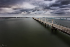 Chained (Crouchy69) Tags: sunrise dawn landscape seascape ocean sea water coast clouds sky jetty pier long exposure narrabeen pool sydney australia