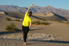 Curves (Tom Fenske Photography) Tags: deathvalley starwars woman dance yoga hot desert sand dunes nature wilderness outdoors nationalpark girl people tatooine linda