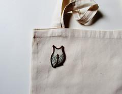 Owl (Pin it) Tags: owl felt zipper gold beige handmade brooch pin badge