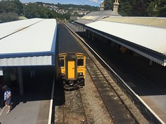 Photo of Class 150 Sprinter at Tenby railway station