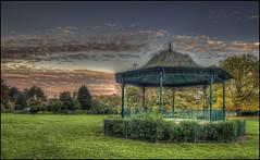 Abington Park Autumn 2016 -Bandstand (Darwinsgift) Tags: abington park bandstand abbey museum northampton northamptonshire pce nikkor 24mm f35 d ed nikon d810 hdr photomatix autumn sunset