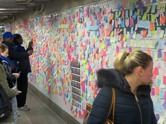 Post-It Wall II (edenpictures) Tags: subwaytherapy postits election trump protest messages unionsquare 14thstreet station tunnel wall postelection newyorkcity manhattan nyc wallofresistance