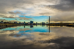 Tranquil Clyde (@bill_11) Tags: glasgowtransportmuseum industrialtransportheritage museums scotland places glasgow riversidemuseum waverley clyde river reflection clouds