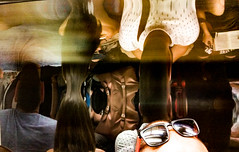 05-06-2016 Tube Heads (elgar22) Tags: londonunderground oped2016 oped365 reflections distorted heads sunglasses tube