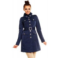 High Collar Trench (betrenchcoated) Tags: trenchcoat trench raincoat regenmantel regenjacke singlebreasted buttons beautifulgirl