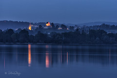 Nachts am Greifensee (Claudia Bacher Photography) Tags: uster greifensee schloss kirche wasser water lake see nebel fog nacht night outdoor suisse schweiz switzerland sonya7r