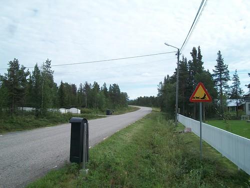 Street in Jukkasjärvi