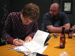 MultiBD - Ddicace - 161124 - Thomas Gilbert - Pascal Matthey - Stphane Nol (fabonthemoon) Tags: multibd ddicace 161124 pascalmatthey lemploydumoi comics stripverhaal bandesdessines dessin tekening drawing lesttards