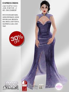 A:S:S Decades - Empress dress for We <3 RP, December