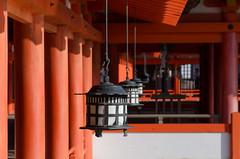 Lanterns of Senjokaku (cinusek) Tags: lantern senjokaku temple red miyajima itsukushima japan