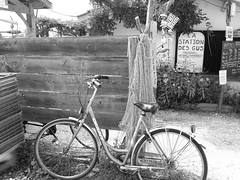 Having a rest (estellousan) Tags: blackandwhite bicyclette andernos les bains