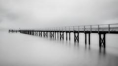 The long jetty (Chas56) Tags: blackandwhite monochrome water pier jetty beach sea ocean bw canon seascape landscape highkey longexposure ndfileter