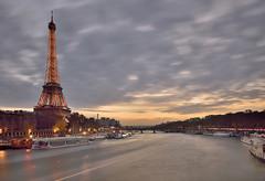 The Eiffel Tower, what else? (Sizun Eye) Tags: paris toureiffel eiffeltower seineriver iledefrance france europe westerneurope mood moody clouds sunset illumination longexposure poselongue poselente nisifilters nikond750 tamron2470mmf28