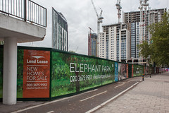 Where the Heygate Estate was (Gary Kinsman) Tags: urban london tower architecture clouds skyscraper advertising grey construction empty overcast hoarding strata advert highrise gentrification southlondon development se1 anywhere regeneration redevelopment elephantcastle 2015 heygateestate lendlease placeless topographics newkentroad canon28mmf18 newtopographics socialcleansing elephantpark elephant1 canoneos5dmarkii canon5dmkii onetheelephant tribecasquare