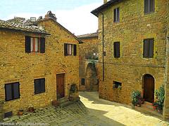 Montichiello, Il borgo (michele masiero) Tags: italia siena toscana valdorcia montichiello fotosketcher