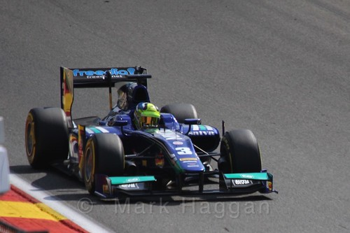 Julián Leal in GP2 Qualifying at the 2015 Belgium Grand Prix