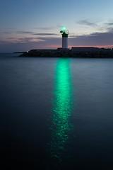 beacon (Marc McDermott) Tags: longexposure light sunset summer sky reflection water night clouds evening marine rocks becon 5dmarkiii ef40mmf28stm