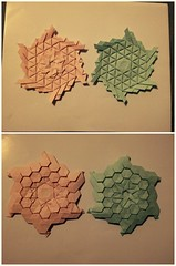 Bea's Diamonds and Triangles and a Hexagon discovered by Robin Scholz study (Monika Hankova) Tags: origamitessellation