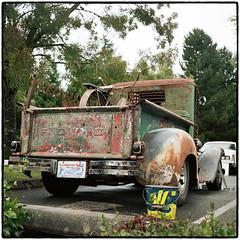 Ford Truck Rat Rod (NoJuan) Tags: ford tlr film rolleiflex mediumformat 120film trucks oldtruck carshow fordtruck ratrod twinlens tessar 120rollfilm kodakportra160 rolleiflex35a