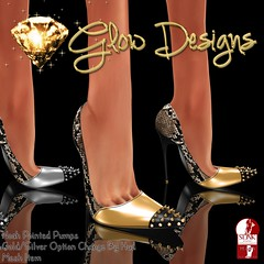 New Release .:Glow Designs:. Noah Pointed Pumps (.:Glow Designs:. (Sckarlett Fairywren)) Tags: new animal silver print gold cosmopolitan glow snake release event designs cosmo exclusive spiked slink