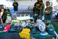 rugby world match day16 (WITHIN the FRAME Photography(5 Million views tha) Tags: green southafrica gold fuji rugby caps stall capetown clothes springboks xt1 worldcuprugby