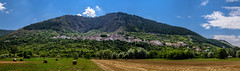 Fossa and Mount Ocre (Sharky.pics) Tags: italy mountain field town europe village july it cerro abruzzo 2015 fossa mountocre