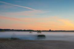 Just before the sunrise (ShiyuZhuang) Tags: morning mist nature sunrise copenhagen denmark sony farmland herlev sony70400