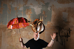 The Man who Balanced Taxidermy on his Head (Studio d'Xavier) Tags: taxidermy balance 365 werehere 277365 stuffonheads october42015